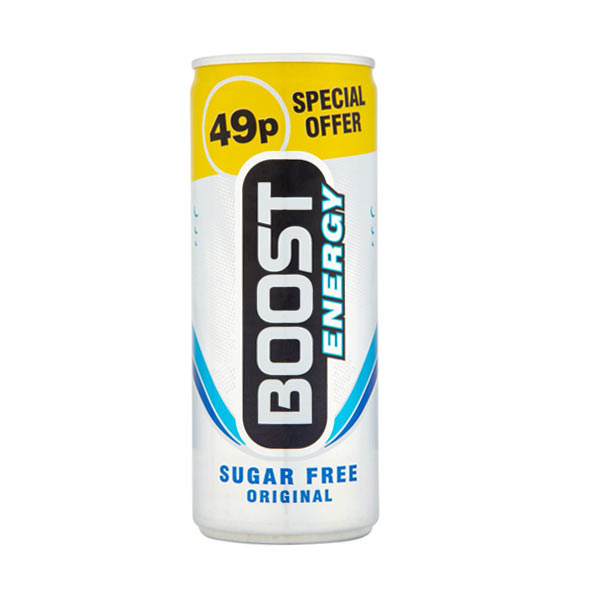 Boost Energy Sugar Free 24x250ml PM49p